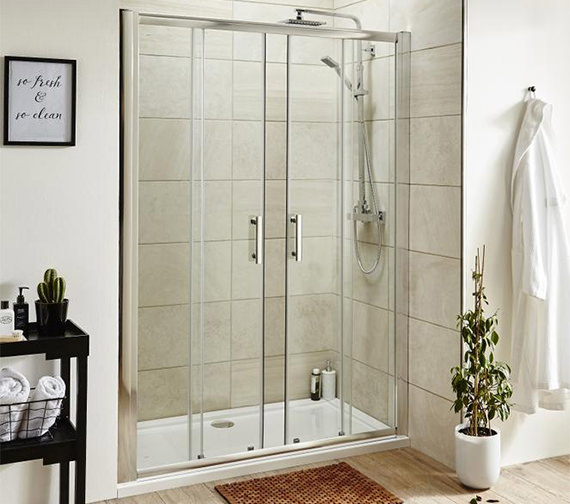Premier Pacific 1400 x 1850mm Double Sliding Shower Door