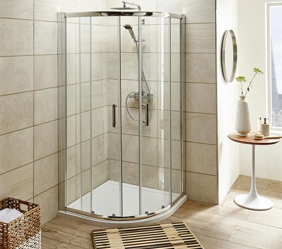 Alternate image of Beo Double Door Quadrant Shower Enclosure 1000mm