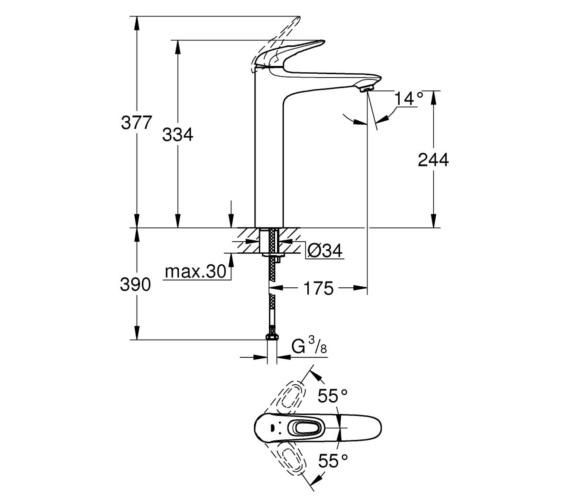 Technical drawing QS-V87053 / 23570LS3