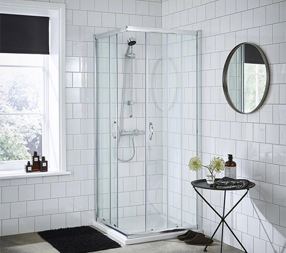 Premier Ella Corner Entry 800 x 800mm Shower Enclosure - ERCE8080
