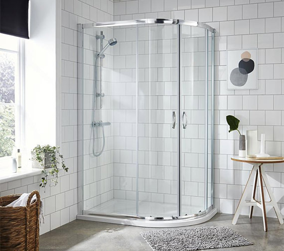 Nuie Premier Ella 1200 x 900mm Offset Quadrant Shower Enclosure