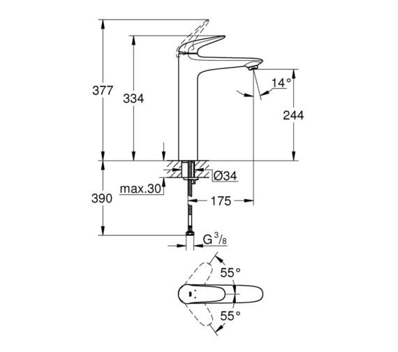 Technical drawing QS-V87035 / 23719003