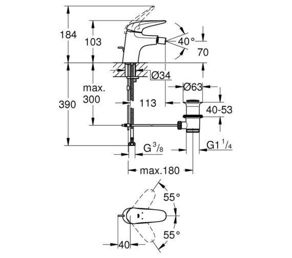 Technical drawing QS-V87036 / 23720003