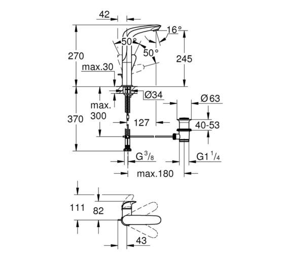 Technical drawing QS-V87058 / 23718LS3