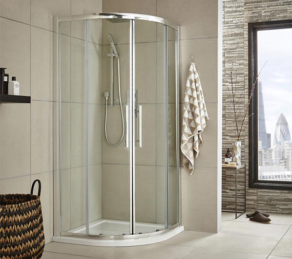 Hudson Reed Apex Double Door Sliding Quadrant Shower Enclosure