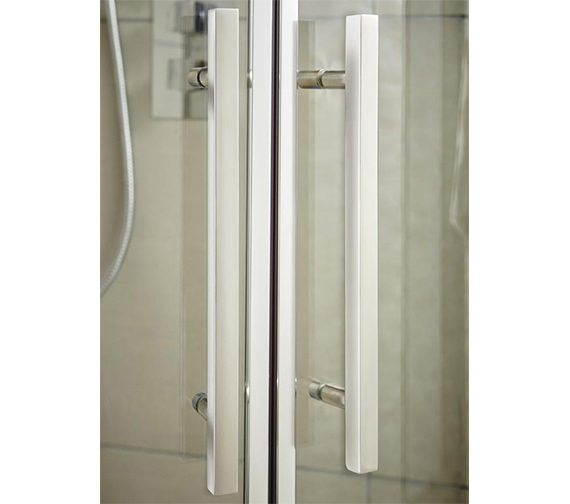 Additional image of Hudson Reed Apex 700 x 1900mm Hinged Shower Door