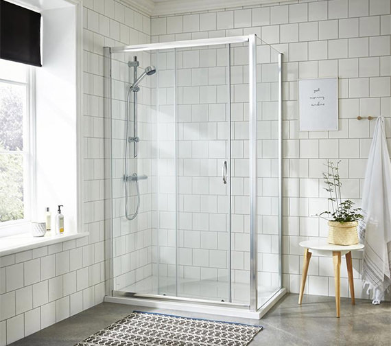 Nuie Premier Ella 1850mm High Single Sliding Shower Door