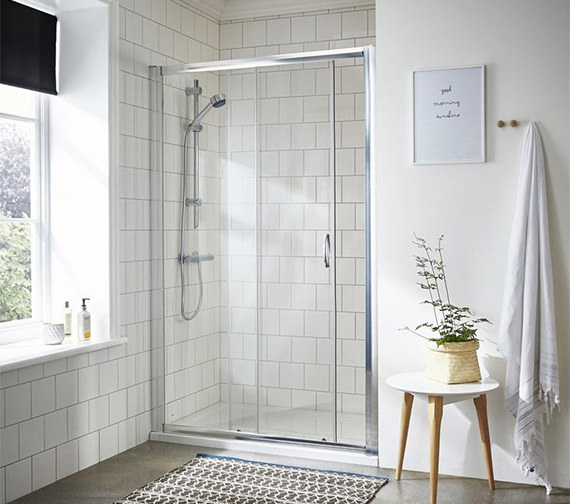 Additional image of Nuie Premier Ella 1850mm High Single Sliding Shower Door