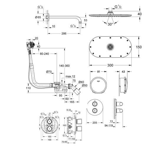Technical drawing QS-V81726 / 118328