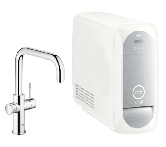 grohe blue home kitchen sink mixer tap with filter function 31456000. Black Bedroom Furniture Sets. Home Design Ideas