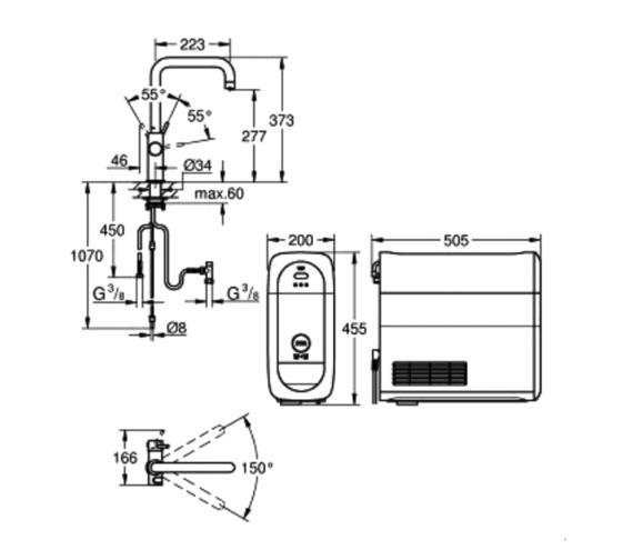 Technical drawing QS-V87074 / 31456DC0
