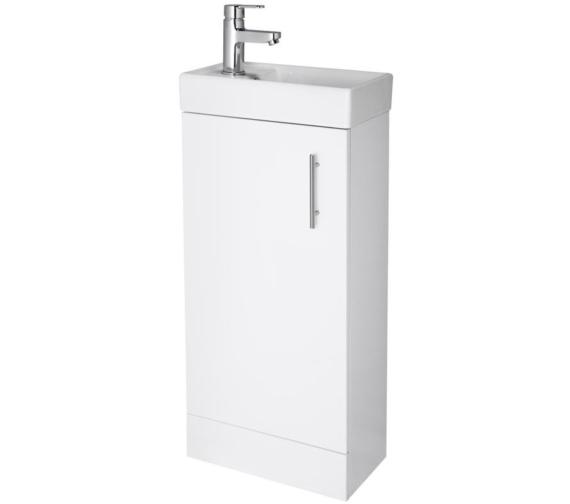 Lauren Minimalist 400mm White Floor Standing Cabinet And Basin