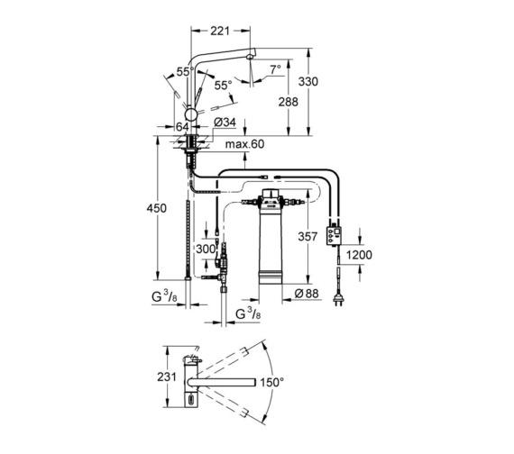 Technical drawing QS-V87076 / 31345002