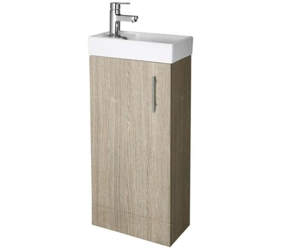 Oak Floor Standing Bathroom Cabinets : Lauren minimalist mm light oak floor standing cabinet