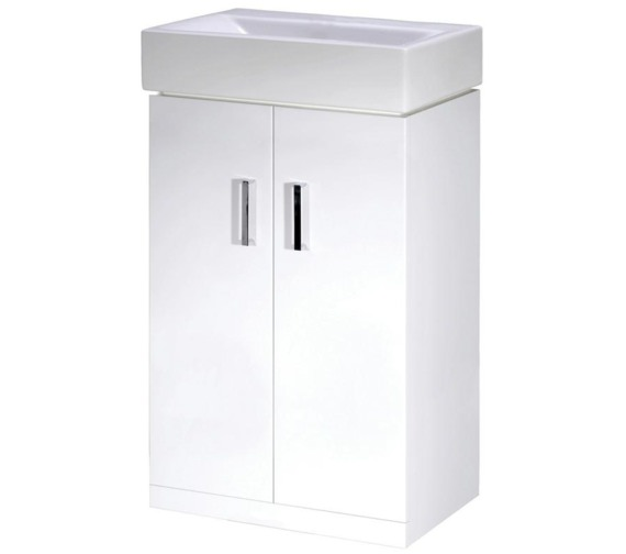 Lauren Checkers 460mm Floor Standing Cabinet And Basin