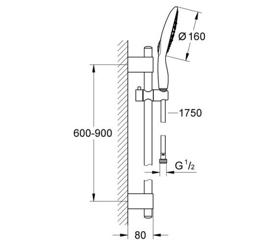 Technical drawing QS-V6975 / 27750000