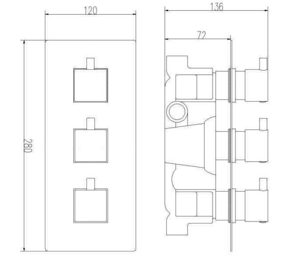 Technical drawing QS-V10900 / JTY303