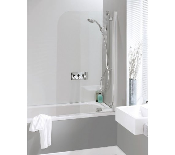 Simpsons Supreme Deluxe 850mm Single Panel Hinged Bath Screen