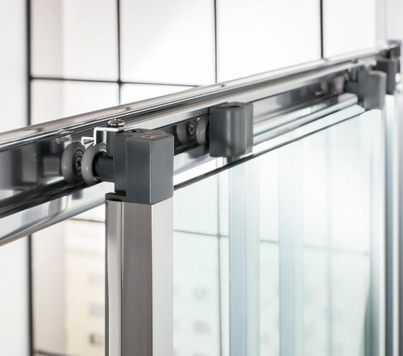 Additional image of Simpsons Edge Triple Slider Shower Door 900 x 1950mm