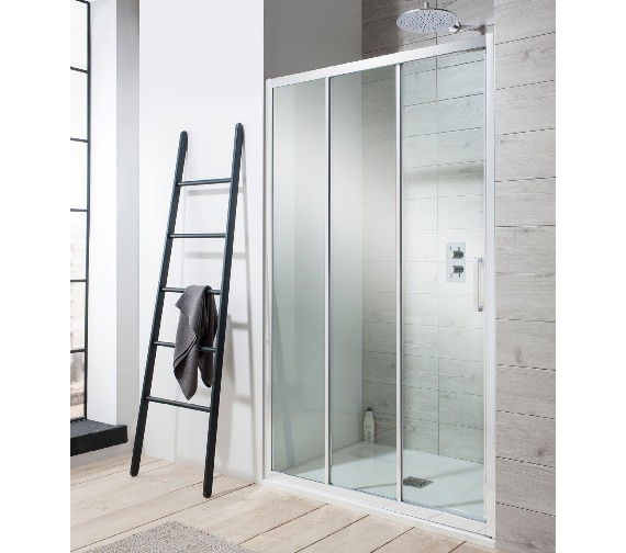 Alternate image of Simpsons Edge Triple Slider Shower Door 1000 x 1950mm