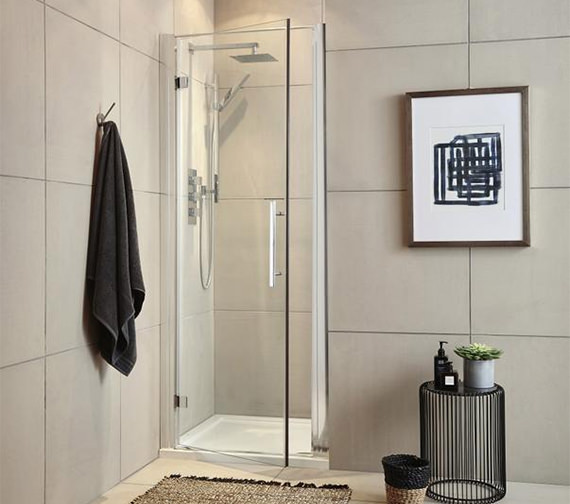 Hudson Reed Apex 700 x 1900mm Hinged Shower Door