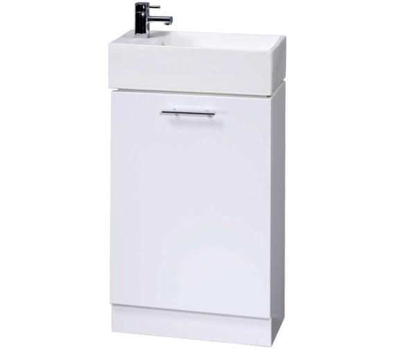 Nuie Premier Cloakroom 480mm Floor Standing Cabinet With Basin
