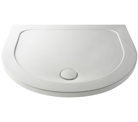 Nuie Premier Pearlstone D Shape 1050mm Shower Tray
