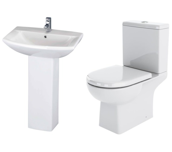 Nuie Premier Asselby Basin And Toilet Set