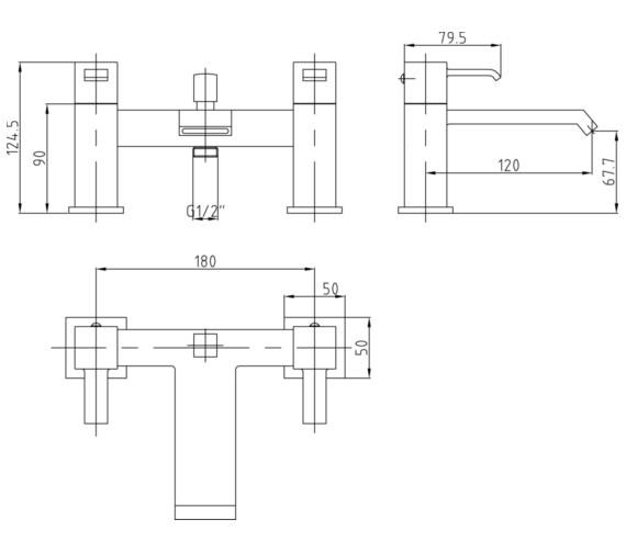 Technical drawing QS-V70964 / TBL304