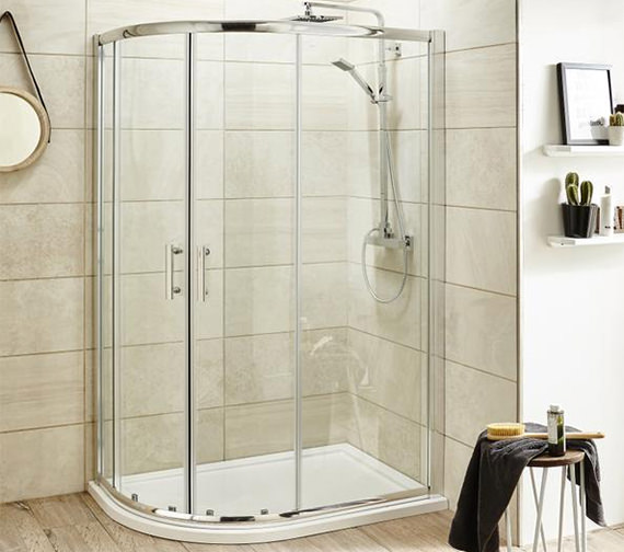 Lauren Pacific 1200 x 800mm Offset Quadrant Shower Enclosure