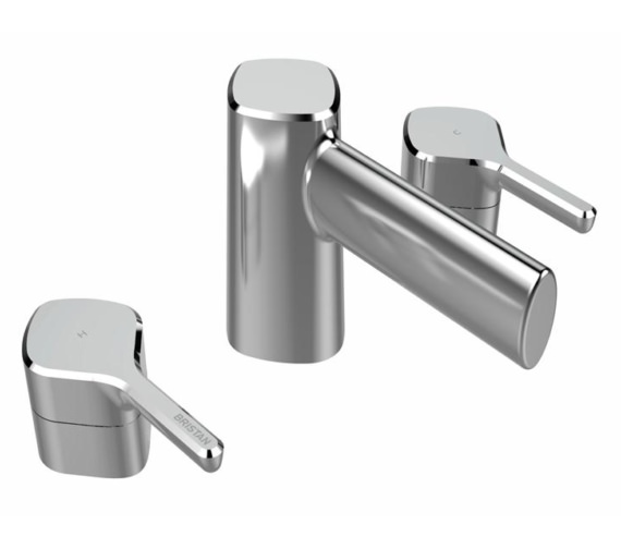 Bristan Flute 3 Hole Deck Mounted Basin Mixer Tap