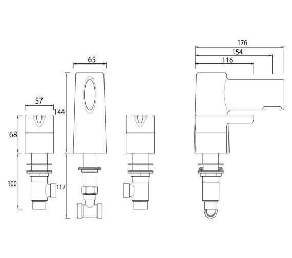 Technical drawing QS-V6980 / FLT 3HBF C
