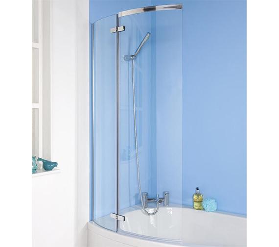 Premier Ella 730-740 x 1400mm Curved Screen For P-Shaped Bath