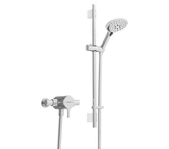 Bristan Flute Exposed Sequential Shower Valve With Adjustable Riser Kit