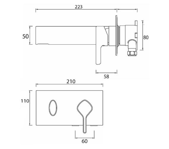 Technical drawing QS-V6986 / FLT WMBAS C