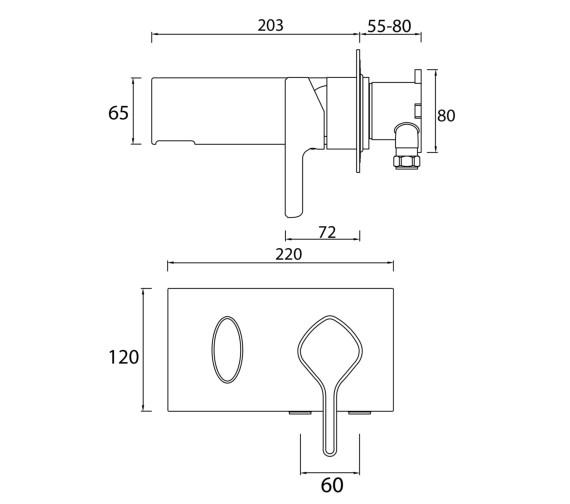 Technical drawing QS-V6987 / FLT WMBF C