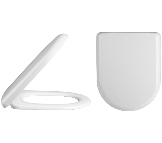 Premier Standard D-Shaped Top Fix Soft Close Toilet Seat And Cover