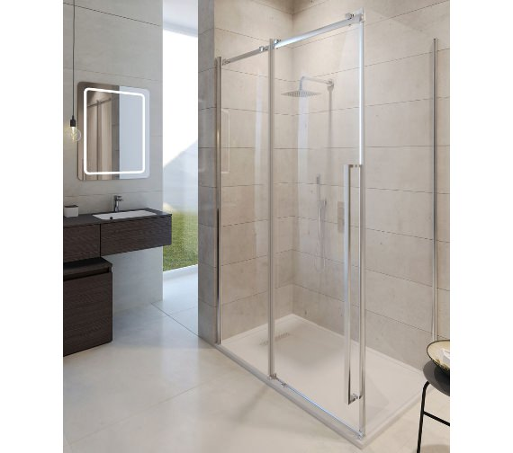Simpsons Pier Single Slider Shower Door 1400 x 2000mm