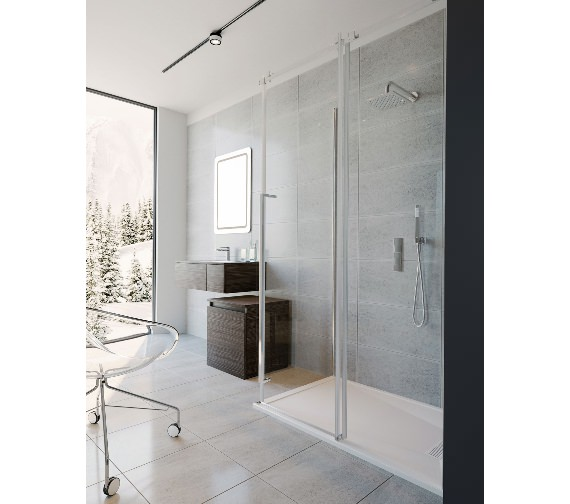 Alternate image of Simpsons Pier Single Slider Shower Door 1400 x 2000mm