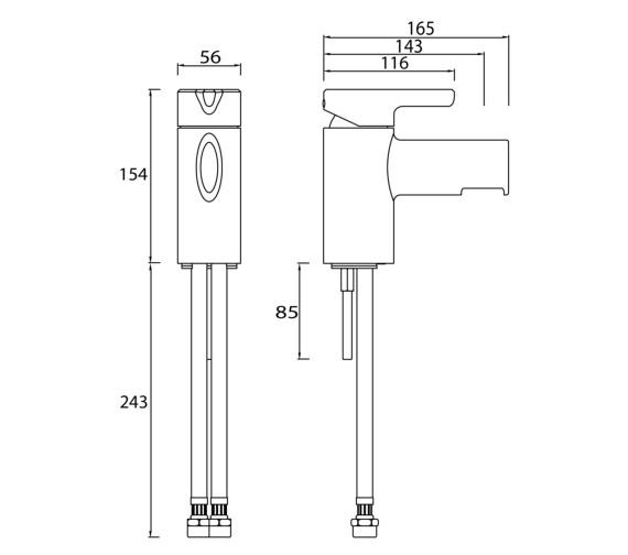 Technical drawing QS-V6977 / FLT 1HBF C