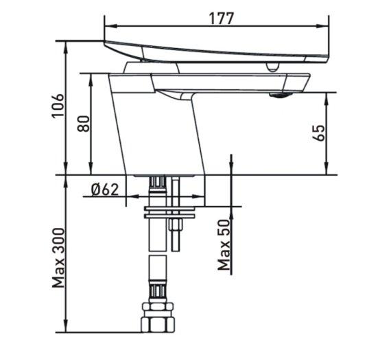 Technical drawing QS-V14286 / CLR 1HBF C