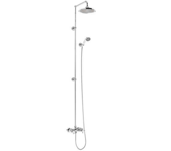 Burlington Eden 2 Outlet Exposed Thermostatic Extended Shower Set