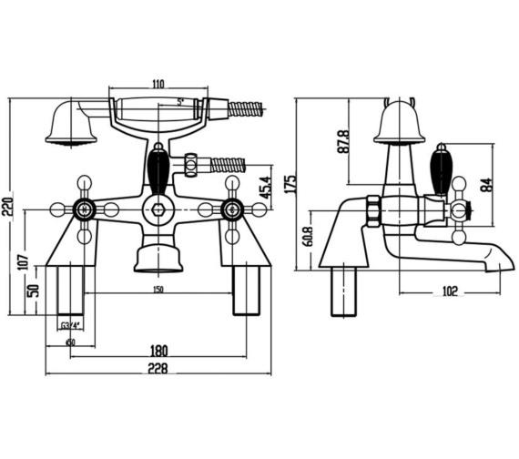 Technical drawing QS-V10916 / X384