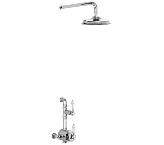 Burlington Stour Exposed Thermostatic Valve With Shower Head And Arm