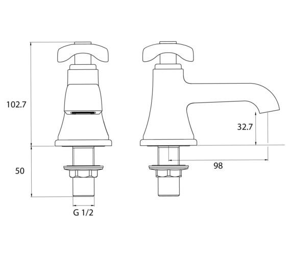 Technical drawing QS-V6998 / GLR 1/2 C