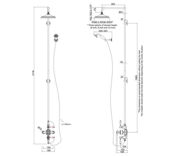 Technical drawing QS-V9056 / BAF3S.EXT