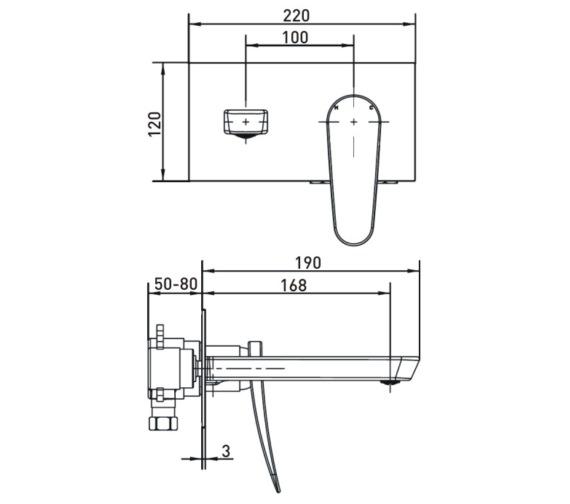 Technical drawing QS-V17457 / CLR WMBF C