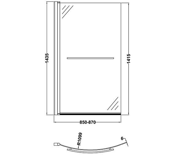 Technical drawing QS-V60418 / NBBSR1