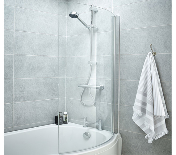 Premier 720 x 1435mm Curved Screen For P-Bath