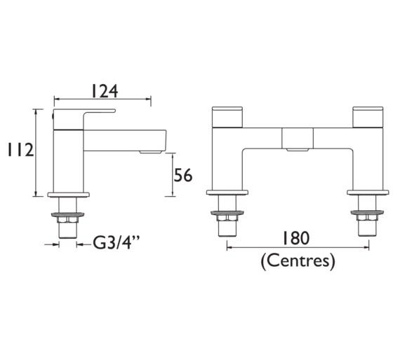 Technical drawing QS-V6989 / FRZ BF C
